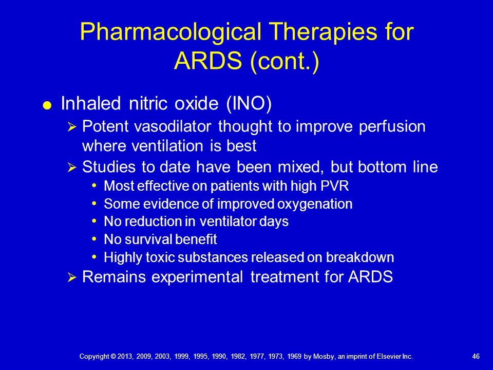 Pharmacological Therapies for ARDS (cont.)
