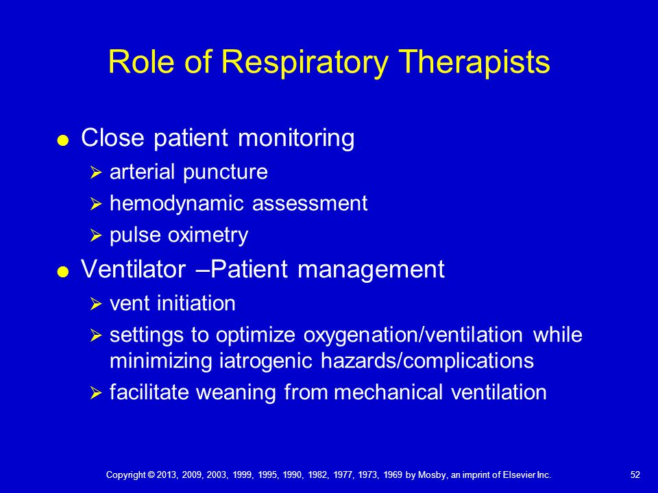 Role of Respiratory Therapists