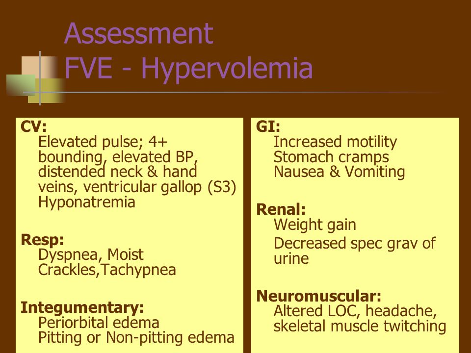 Assessment FVE - Hypervolemia