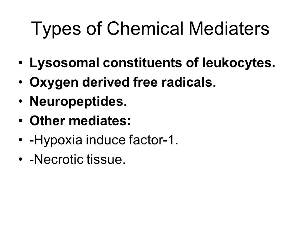 Types of Chemical Mediaters