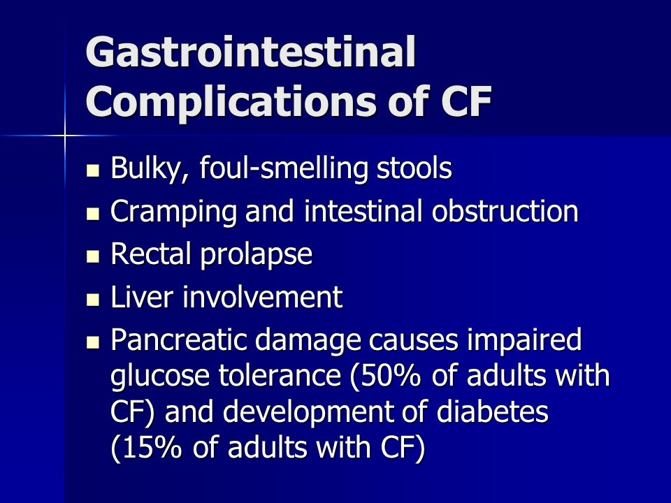 Gastrointestinal Complications of CF
