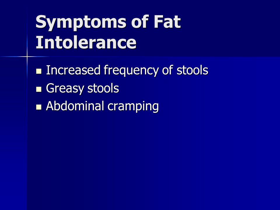 Symptoms of Fat Intolerance