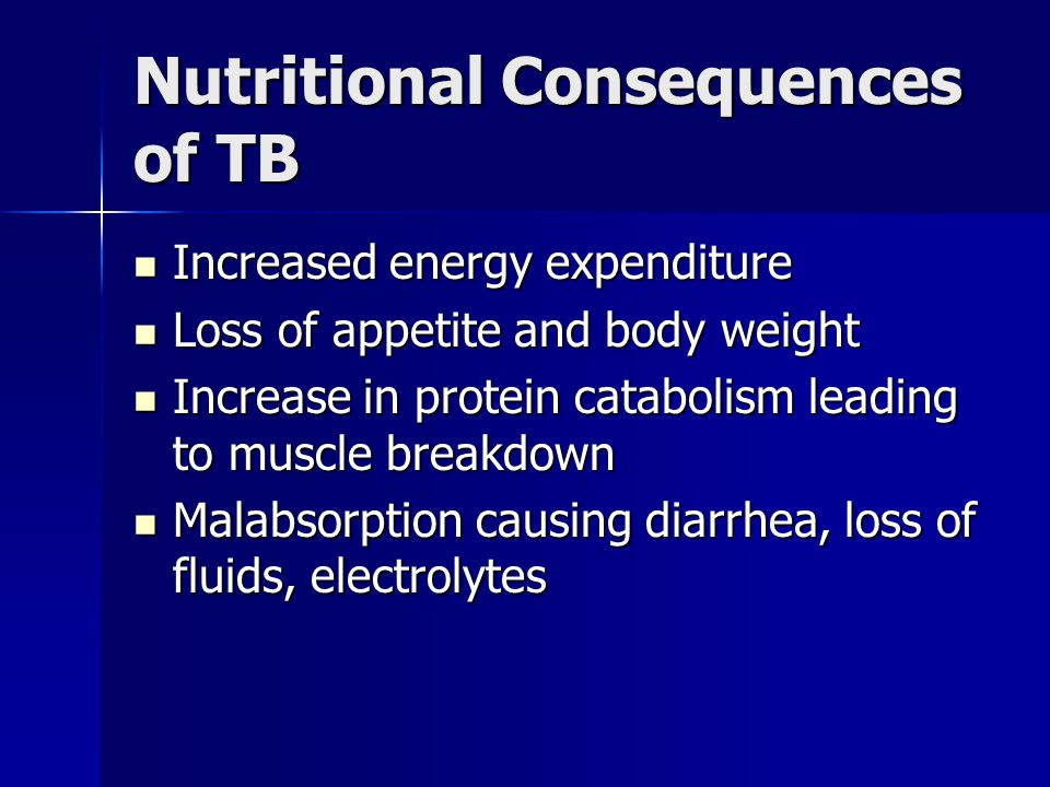 Nutritional Consequences of TB