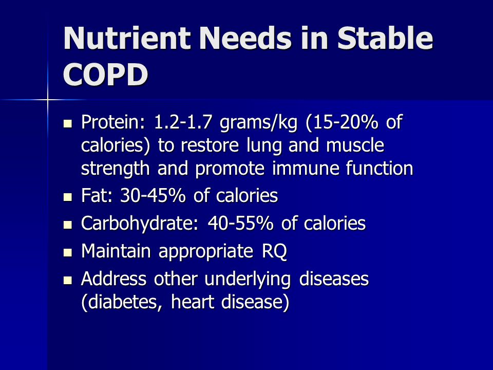 Nutrient Needs in Stable COPD