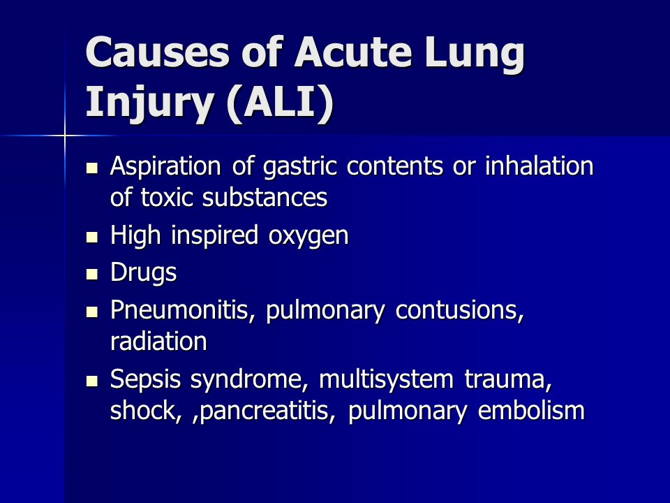 Causes of Acute Lung Injury (ALI)