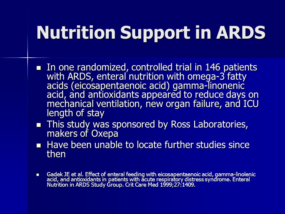 Nutrition Support in ARDS
