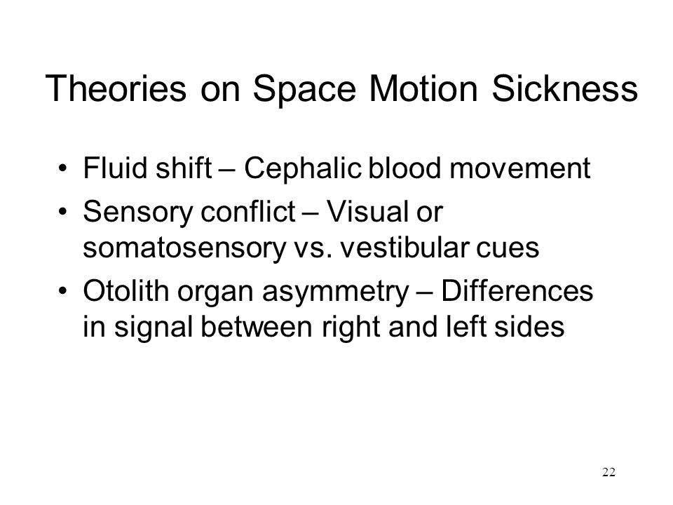 Theories on Space Motion Sickness