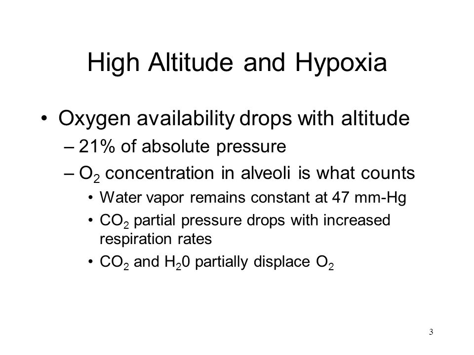 High Altitude and Hypoxia