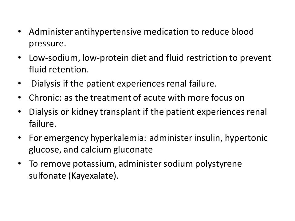 Administer antihypertensive medication to reduce blood pressure.