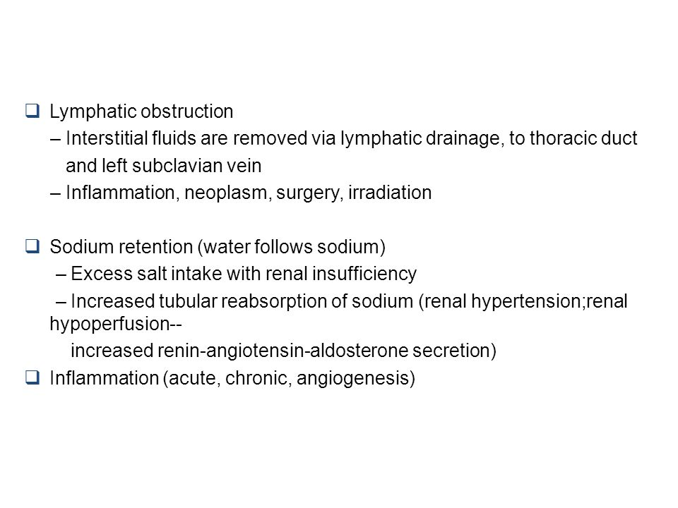 Lymphatic obstruction