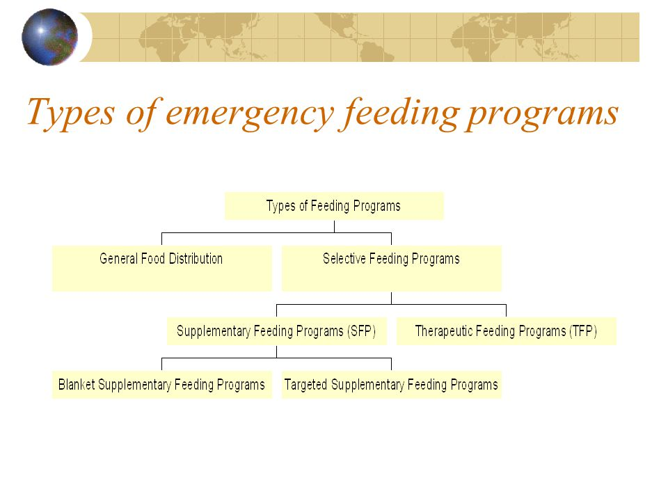 Types of emergency feeding programs