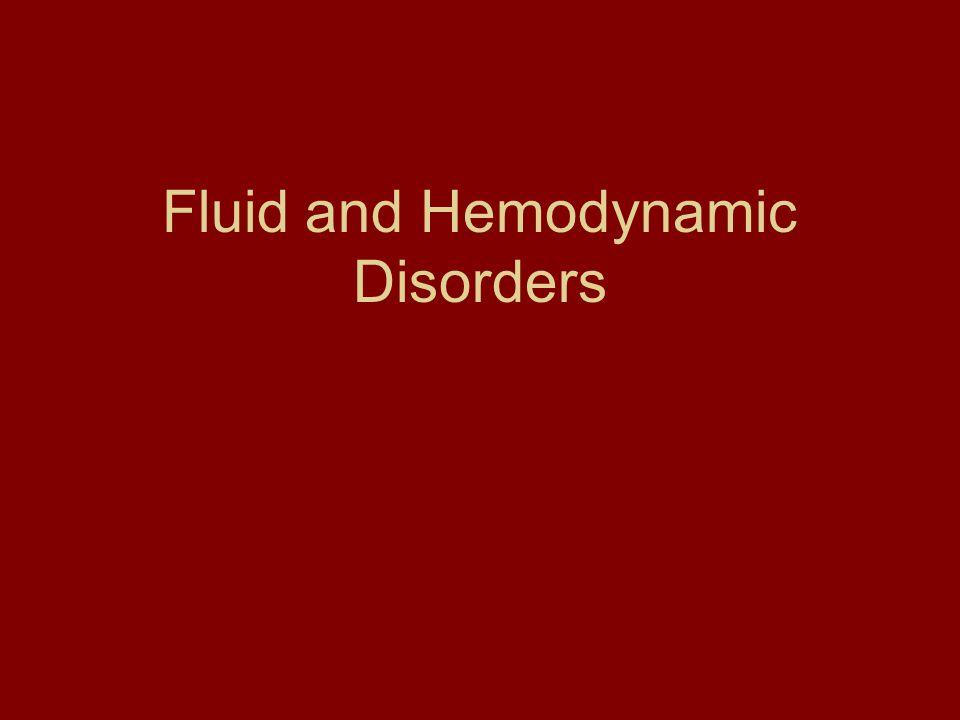 Fluid and Hemodynamic Disorders