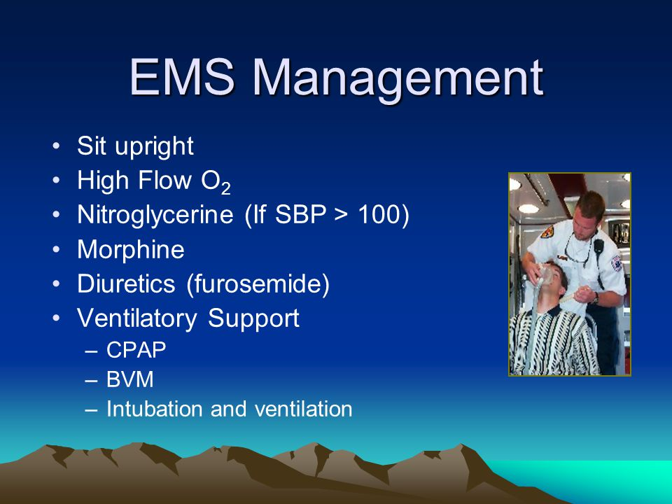 EMS Management Sit upright High Flow O2