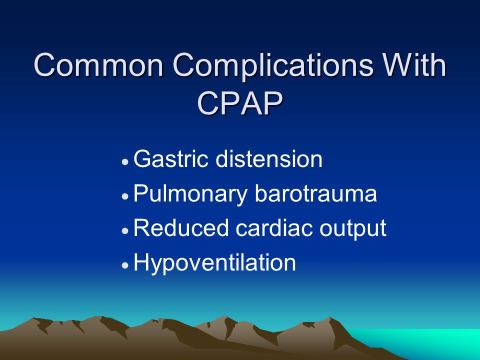 Common Complications With CPAP