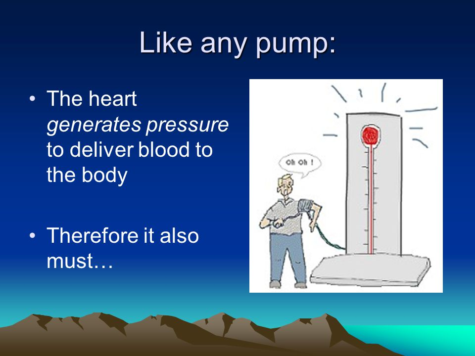 Like any pump: The heart generates pressure to deliver blood to the body Therefore it also must…