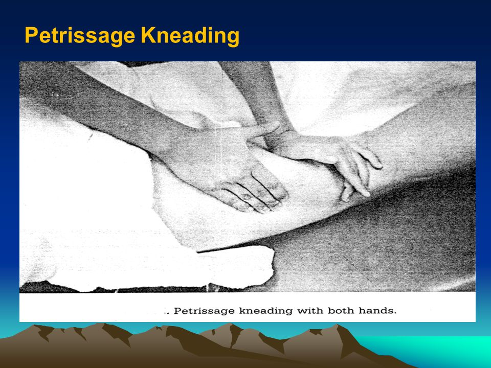 Petrissage Kneading