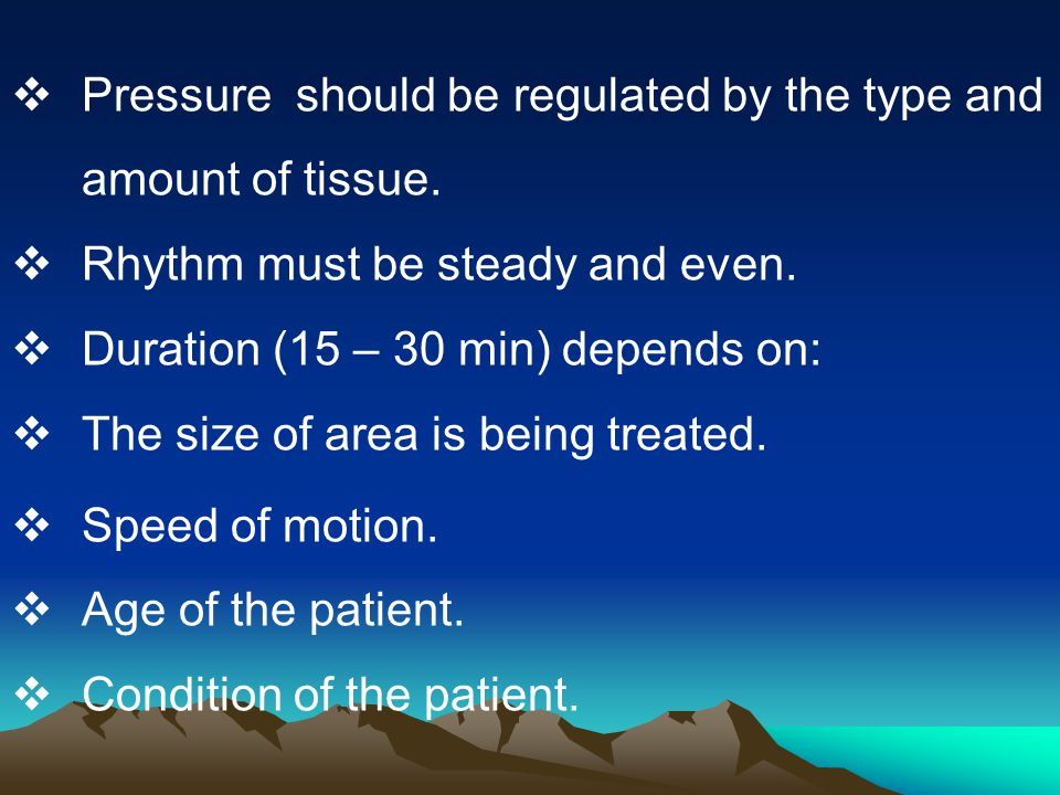 Pressure should be regulated by the type and amount of tissue.