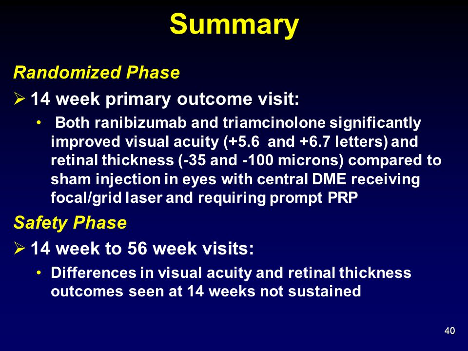 Summary Randomized Phase 14 week primary outcome visit: Safety Phase
