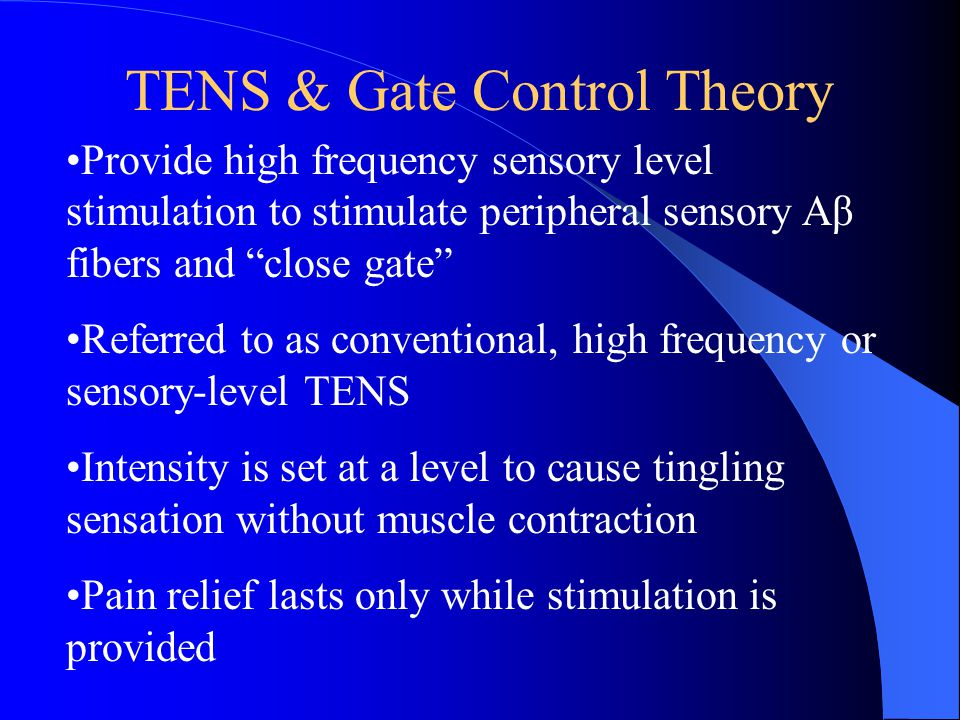TENS & Gate Control Theory
