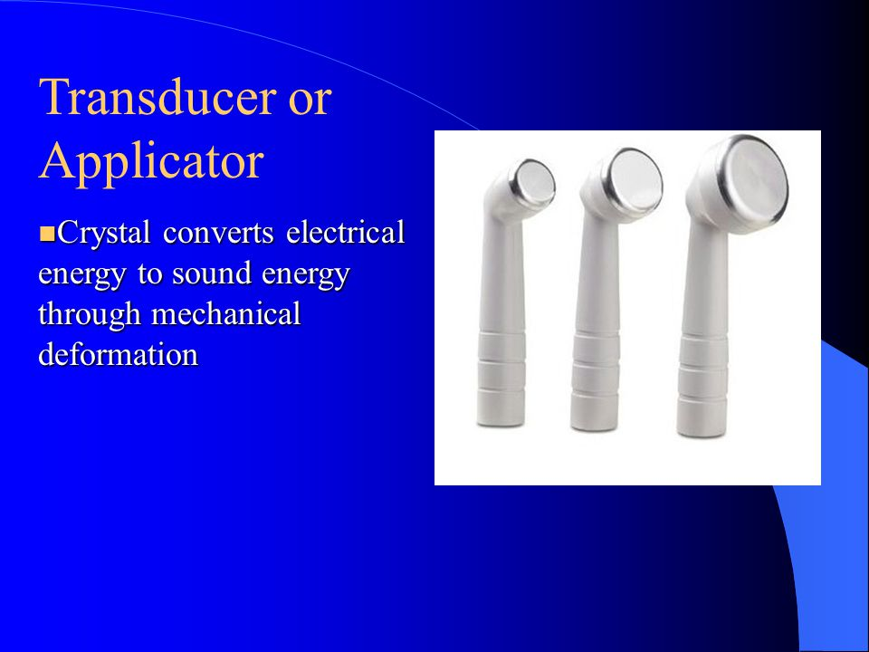 Transducer or Applicator