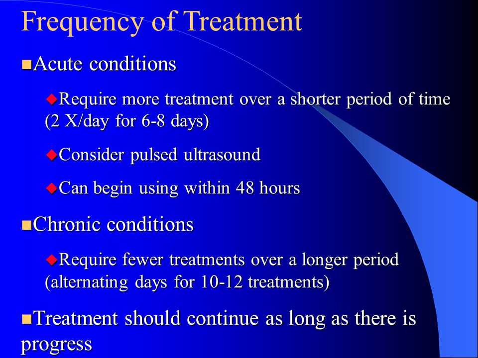 Frequency of Treatment