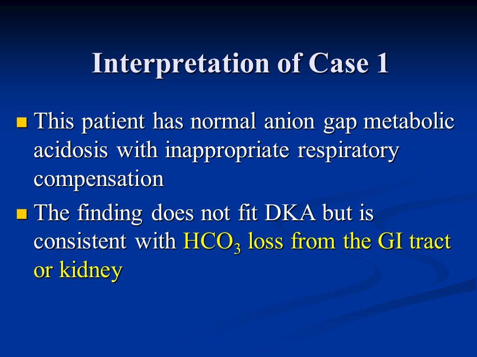 Interpretation of Case 1