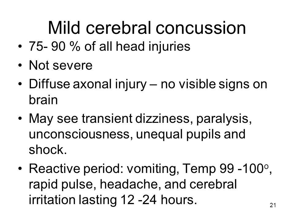 Mild cerebral concussion