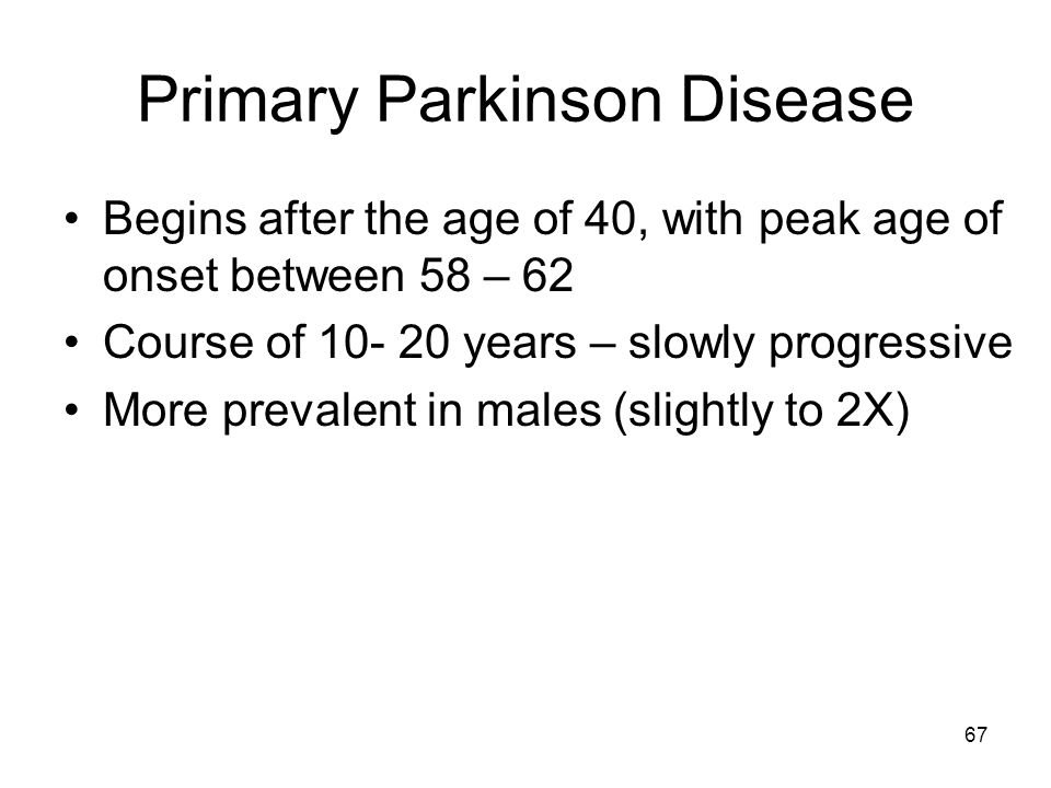Primary Parkinson Disease