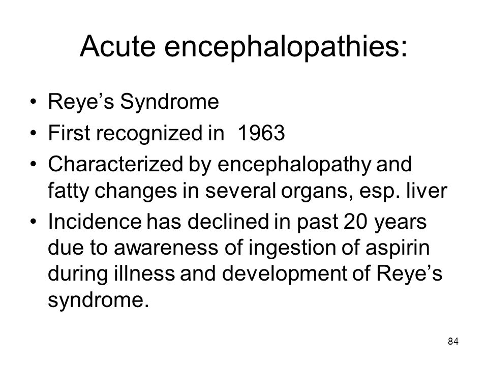 Acute encephalopathies: