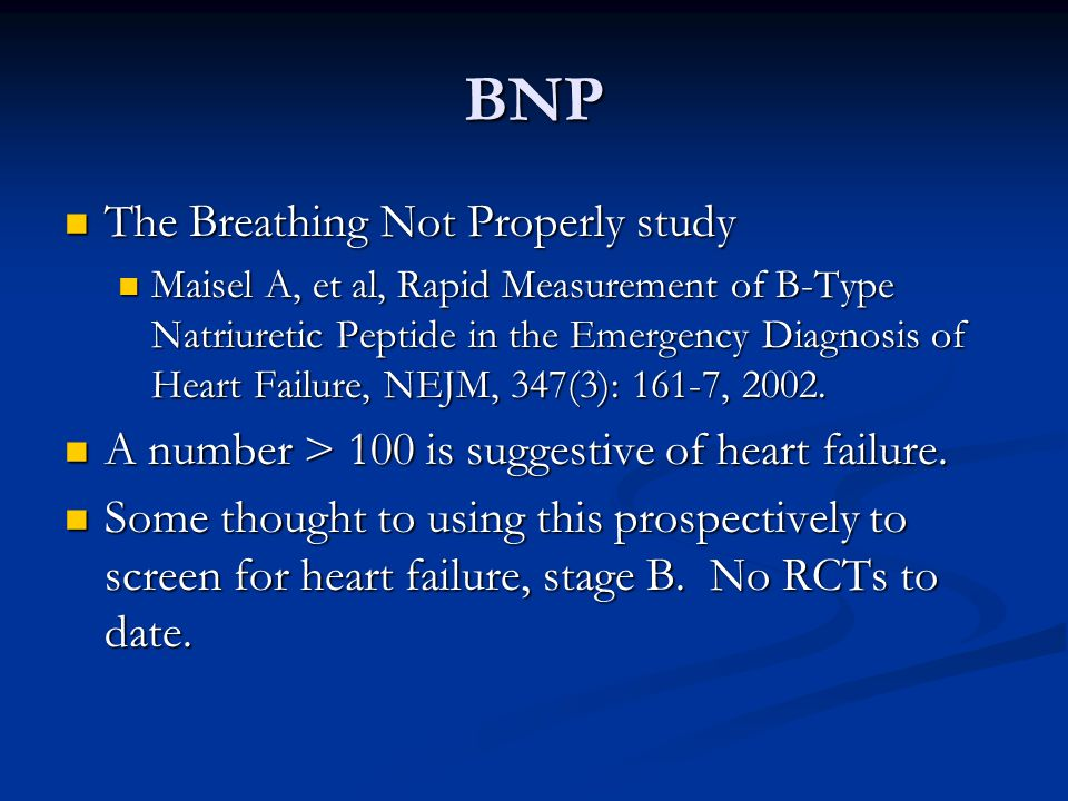 BNP The Breathing Not Properly study