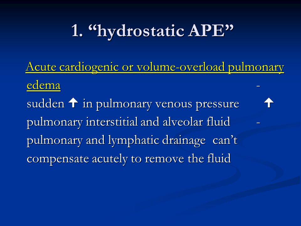 1. hydrostatic APE