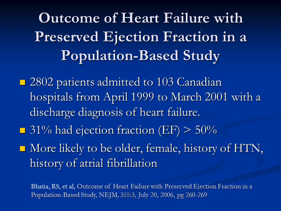 Outcome of Heart Failure with Preserved Ejection Fraction in a Population-Based Study