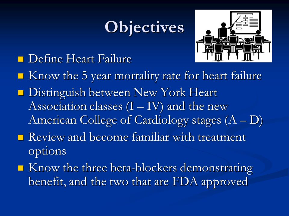 Objectives Define Heart Failure