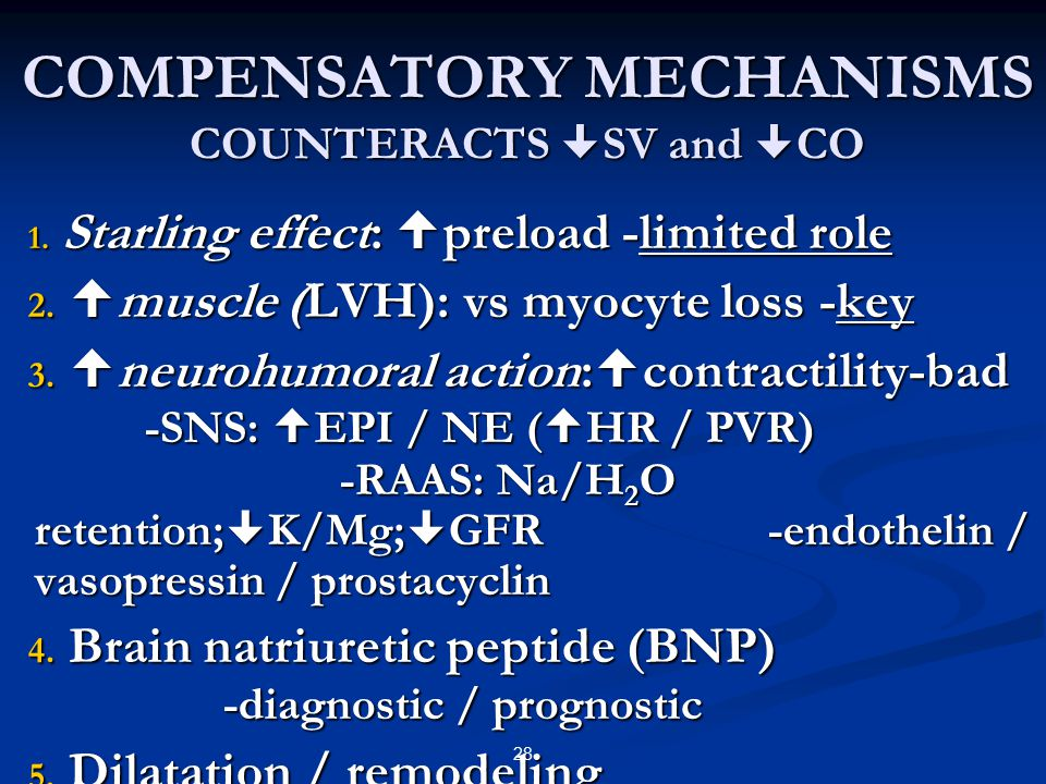 COMPENSATORY MECHANISMS COUNTERACTS SV and CO