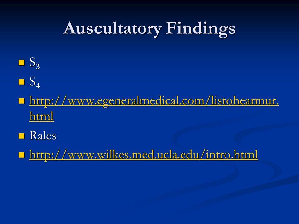 Auscultatory Findings