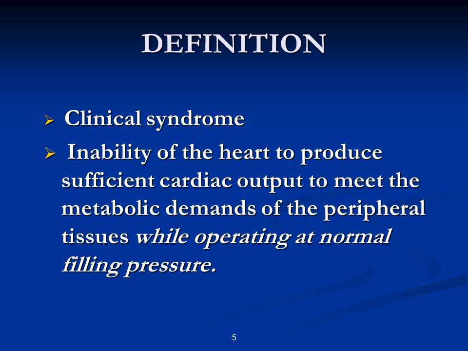 DEFINITION Clinical syndrome.