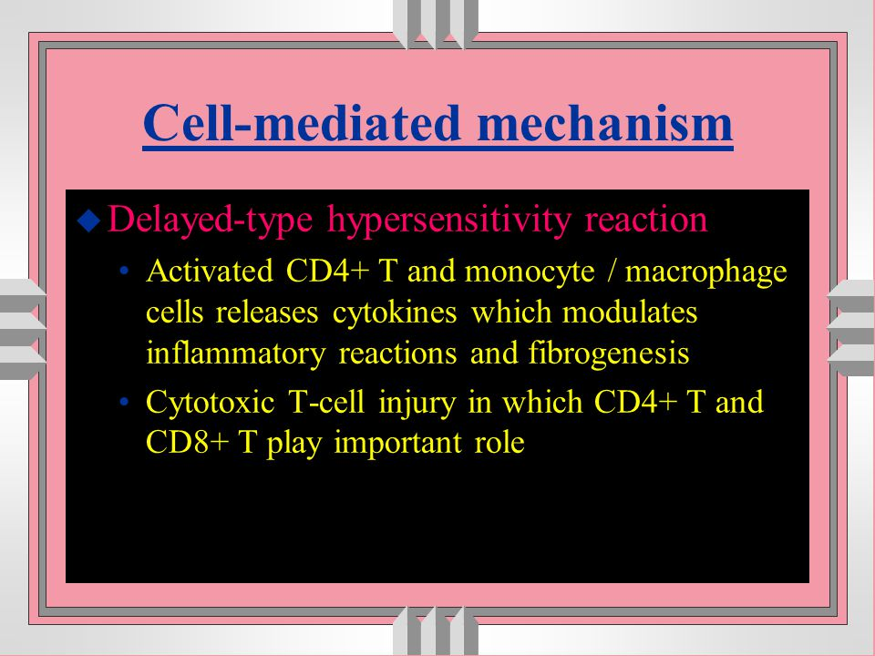 Cell-mediated mechanism