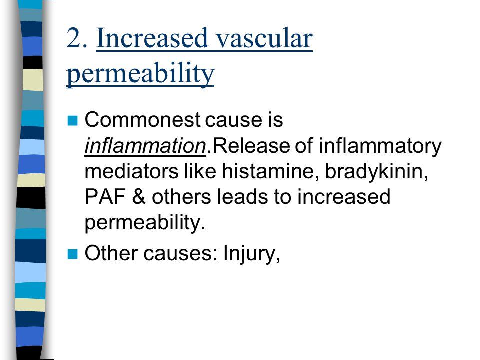 2. Increased vascular permeability