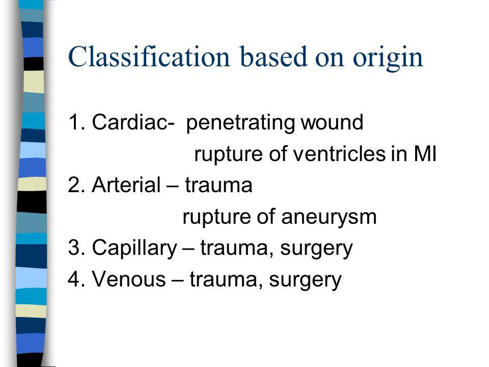 Classification based on origin
