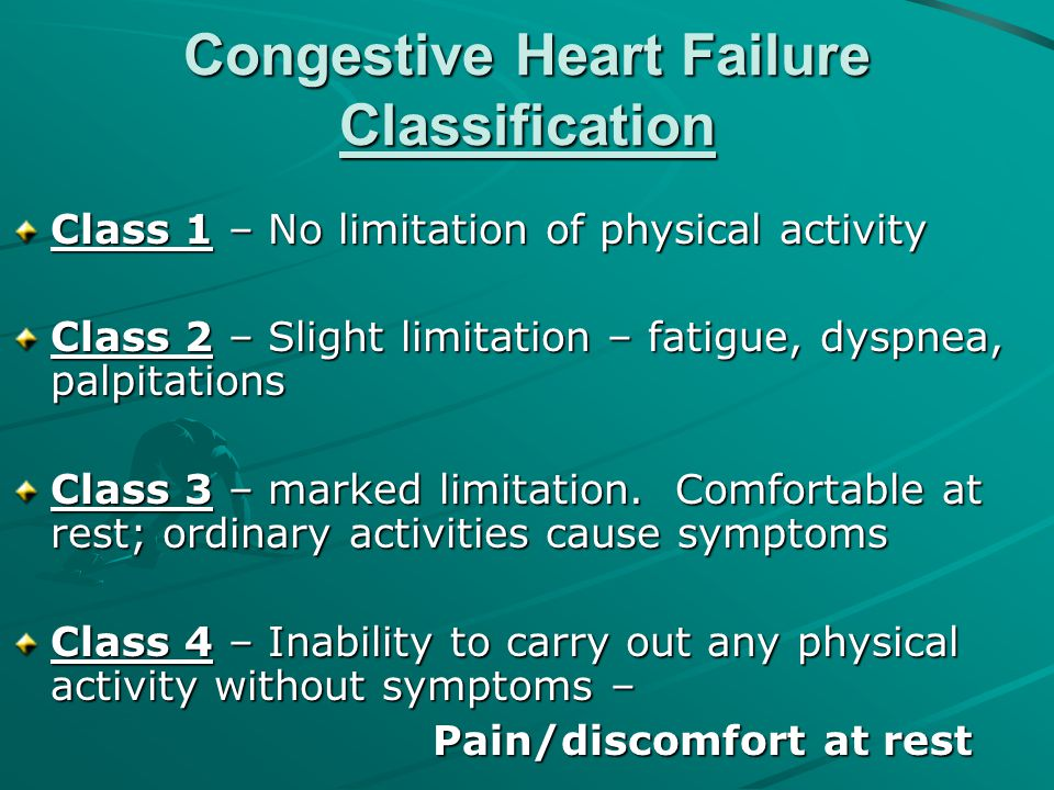 Congestive Heart Failure Classification