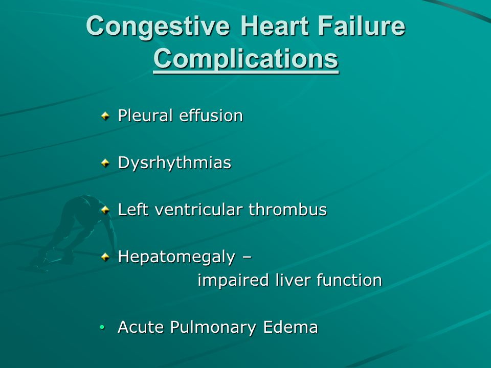 Congestive Heart Failure Complications