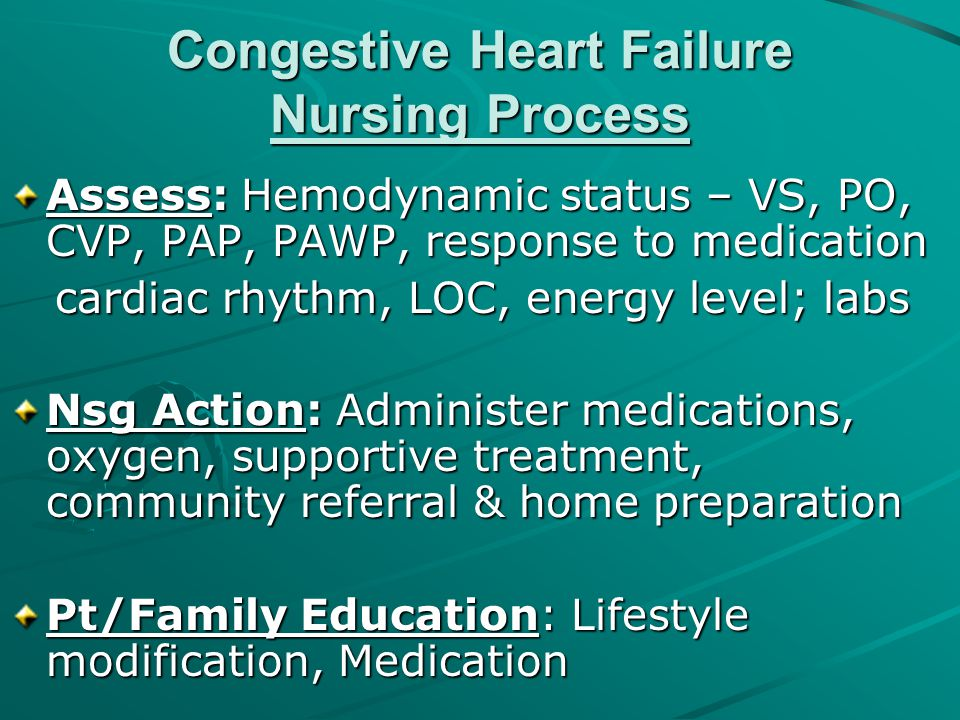 Congestive Heart Failure Nursing Process
