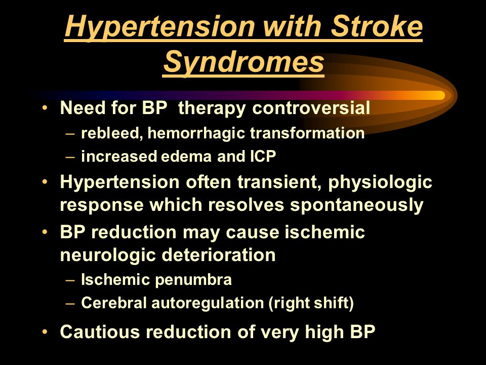Hypertension with Stroke Syndromes