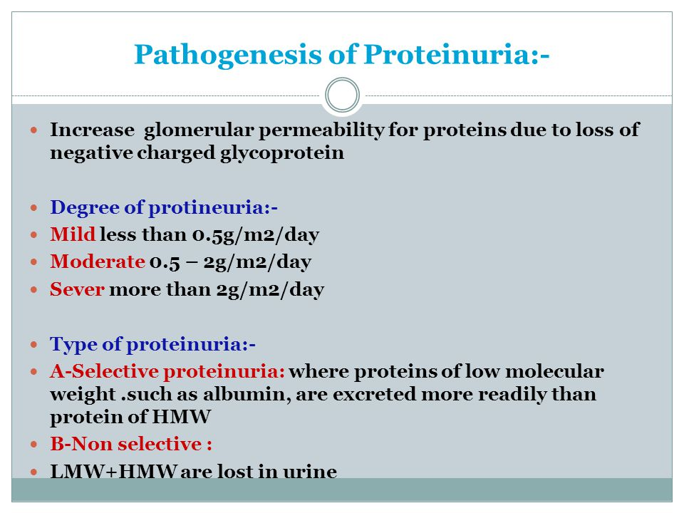 Pathogenesis of Proteinuria:-
