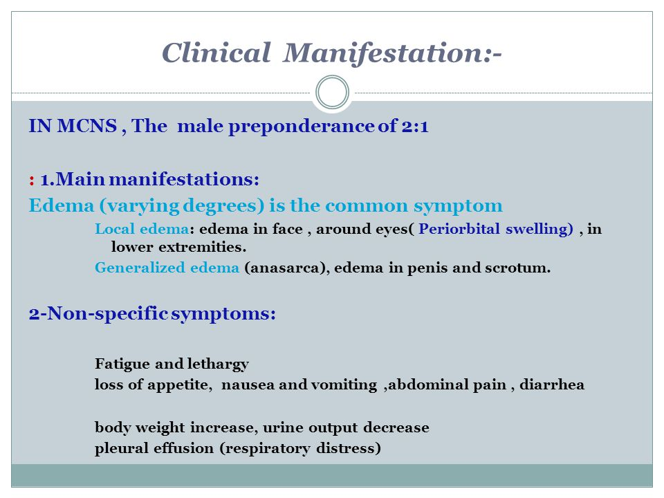 Clinical Manifestation:-
