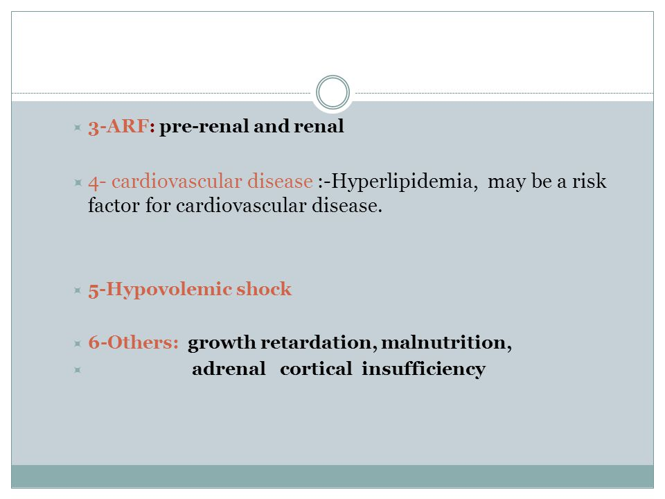 3-ARF: pre-renal and renal