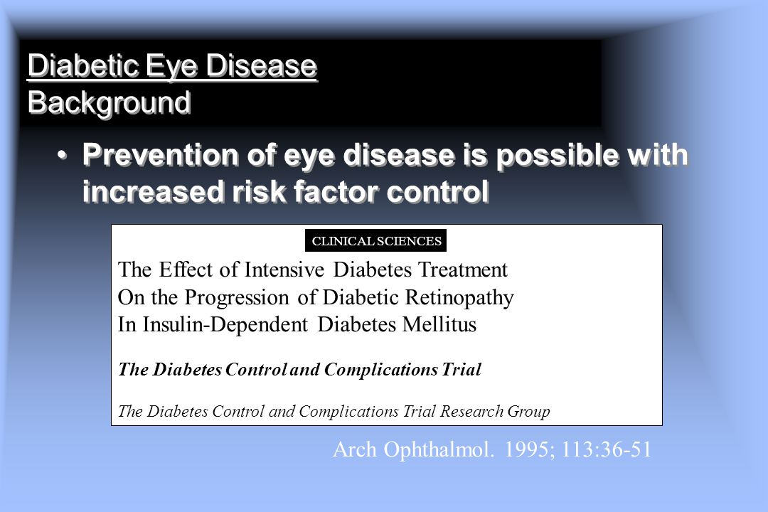 Diabetic Eye Disease Background