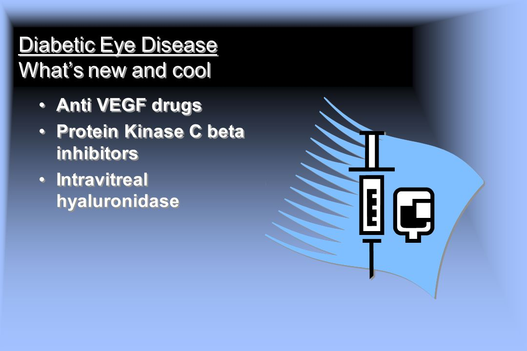 Diabetic Eye Disease What's new and cool