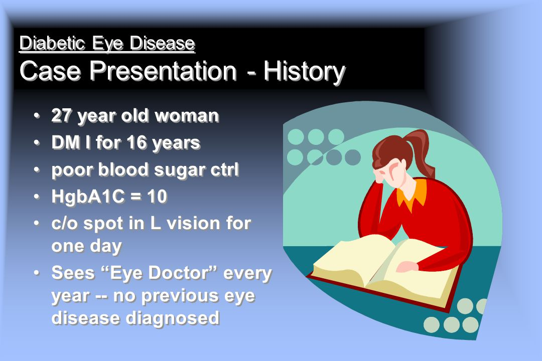 Diabetic Eye Disease Case Presentation - History