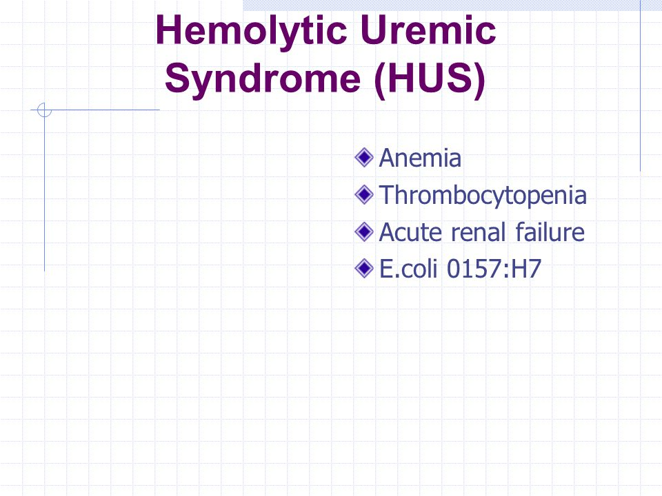 Hemolytic Uremic Syndrome (HUS)